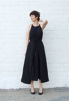 diy strappy black linen dress review of the acton dress