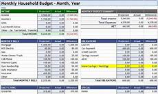 Excel Household Budget 3 Household Budget Spreadsheet Templates Excel Xlts