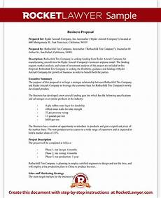 Example Of Written Proposal Business Proposal Template Free Business Proposal Sample