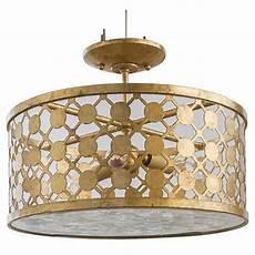 Cielo Light Fixture Cielo 3 Light Semi Flush Gold With Images Living Room