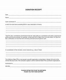car donation receipt template sle donation receipt 10 exles in word pdf