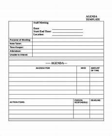 staff meeting agenda templates free 10 meeting agenda templates in pdf free amp premium