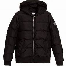 puffer coats for boys circle karl lagerfeld boys black puffer jacket petit new york