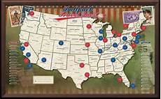 Printable Map With Pins Usa Baseball Push Pin Map Framed And Personalized From