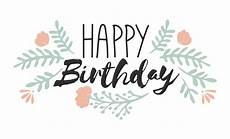 Word Happy Birthday Happy Birthday Word Art Hand Lettered Word Art Overlays
