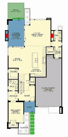 Narrow House Floor Plan Narrow Lot Modern House Plan 23703jd Architectural