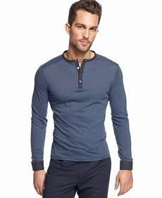 sleeve henley shirts for vince camuto slim fit sleeve henley shirt in twilight