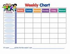 Behavior Clip Chart Template Weekly Behavior Chart Template Behavior Sticker Chart