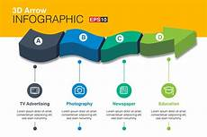 Infographic Arrow 3d Vector Arrow Infographics Graphic Objects Creative