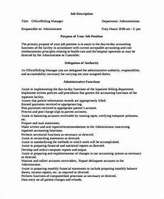 Medical Billing Duties Medical Office Manager Job Description Sample 6
