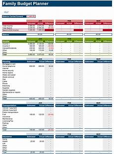 Family Budget Templates Family Budget Planner Free Budget Spreadsheet For Excel