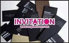 10 contoh undangan dalam bahasa inggris dan terjemahannya
