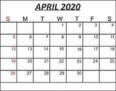 print calendar april 2020 free april 2020 printable calendar in pdf word excel