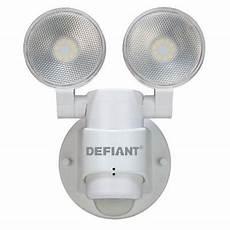 Defiant Lighting Defiant 180 Degree 2 Head White Outdoor Flood Light