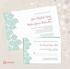 Download And Print Wedding Invitations Free Damask Border Wedding Invitation Free Printable Wedding