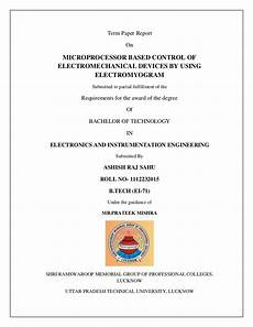 Term Paper Cover Page Format Project Seminar Term Paper Front Page