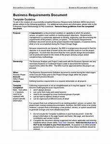 Application Design Document Sample 40 Simple Business Requirements Document Templates