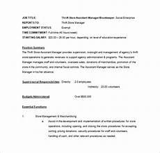 Job Description For A Shop Assistant 11 Store Manager Job Description Templates Free Sample