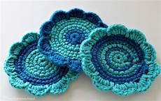 domestic goddess crocheted flower coasters
