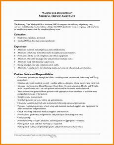 Clerical Duties Of A Medical Assistant 4 Resume Sample For Medical Assistant Free Samples