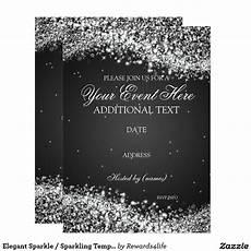Black And White Christmas Invitations Create Your Own Invitation Zazzle Com Sparkle Birthday