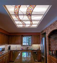 Converting Fluorescent Kitchen Lights Stained Glass Light Panels How To Enhance Any Space With