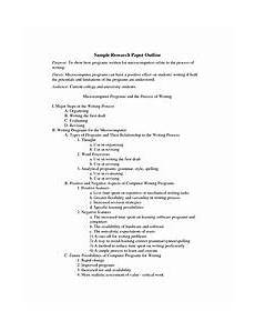Term Paper Outline Things You Should Know About Term Paper Outline Sample