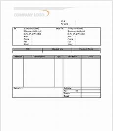 Purchase Ms Word 11 Free Printable Purchase Order Templates Blue Layouts
