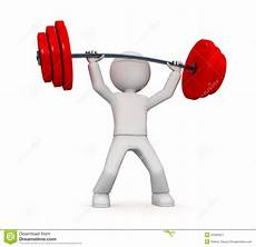 Strengths In A Person 3d Person Power Lifting Stock Image Image 25460321