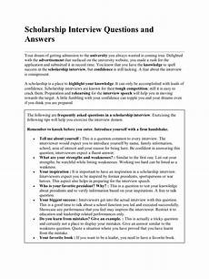 Library Interview Questions And Answers Scholarship Interview Questions And Answers Interview