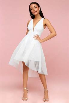 elliatt white mesh dress white high low dress