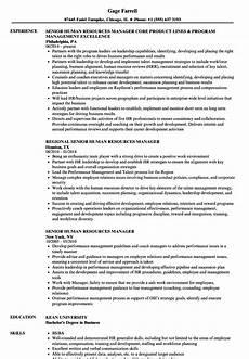 Resume Human Resources Manager Senior Human Resources Manager Resume Samples Velvet Jobs
