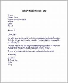 Resignation Letter It Professional Free 9 Sample Resignation Letters In Ms Word Pdf