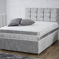 silver divan bed with orthopaedic mattress headboard 5ft