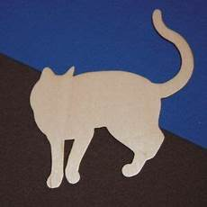 Cat Shapes To Cut Out Domestic Cat Unfinished Wood Shape Cut Out Dc7013 Crafts