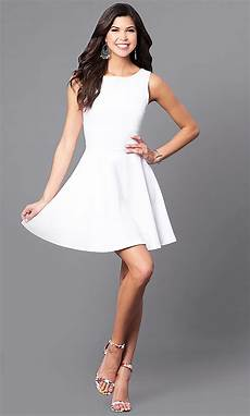 cheap white a line dress with cut outs