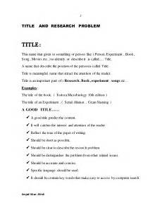 Research Title Samples How To Make A Title For A Research Paper How To Write A