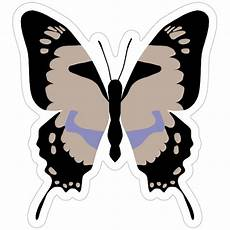 and purple butterfly sticker