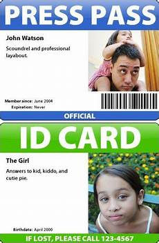 How To Make A Id Card Badge Maker Make Your Own Id Cards
