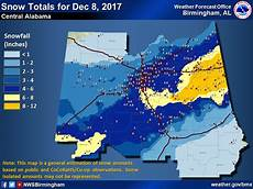 Snow Chart 2017 Snowstorm Of December 8 2017
