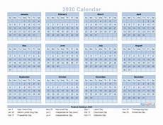 Printable 2020 12 Month Calendar 12 Month Calendar On One Page 2020 Printable Pdf Excel