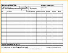 2 Week Time Card Calculator 6 Weekly Time Sheets Excel Templates Excel Templates