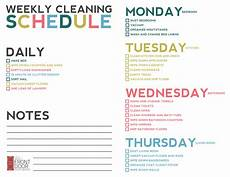 Printable Cleaning Schedule Template Weekly Cleaning Schedule Pdf Printable Receipt Template