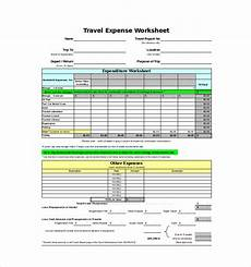 Travel Expense Worksheet Expense Sheet Template Free Excel Documents Download