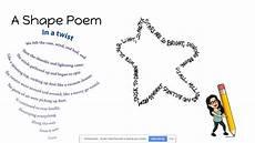 How To Write A Poem How To Write A Shape Poem Youtube