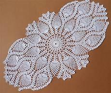 white crochet doily oval crochet doily pineapple doilies