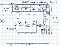 standard kitchen island dimensions dimensions between island and cabinets finalizing layout