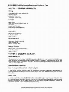Restaurant Business Plan Examples Business Plans Music Plan Example Studio Sample Pdf How To