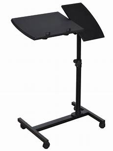adjustable angle height rolling laptop desk table stand