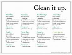 Weekly Chores Weekly Chore List An Un Organized Life